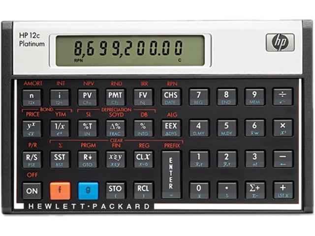 HP F2231AA 12c Platinum Financial Calculator, 10-Digit LCD - Newegg com