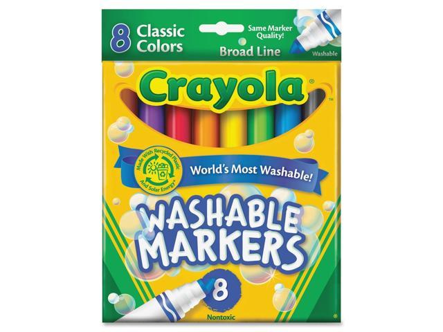 Crayola Washable Markers Pack of 8 Classic Colors 8 ea