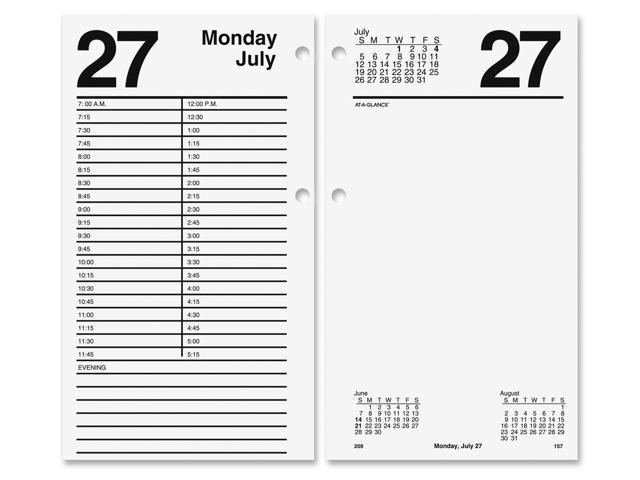 At A Glance E210 50 Large Desk Calendar Refill 4 1 2 X 8 Newegg Com