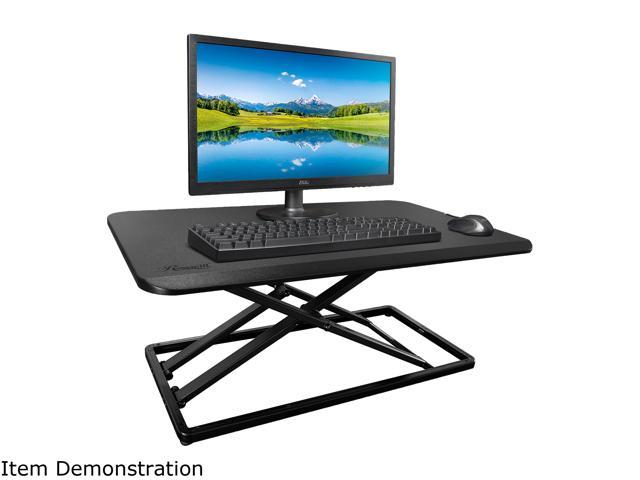 Rosewill RMS-19044 Height Adjustable Standing Desk Riser Monitor Stand, 29-Inch Pre-Assembled Slim Portable Sturdy Desktop Computer Laptop Stand, Ergonomic Sit to Stand Office Workstation