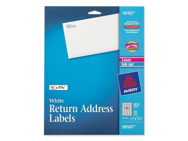 avery 18167 return address label 0 50 width x 1 75 length 80