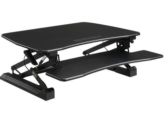 Lorell LLR99553 V2 Adjustable Desk Riser   Black