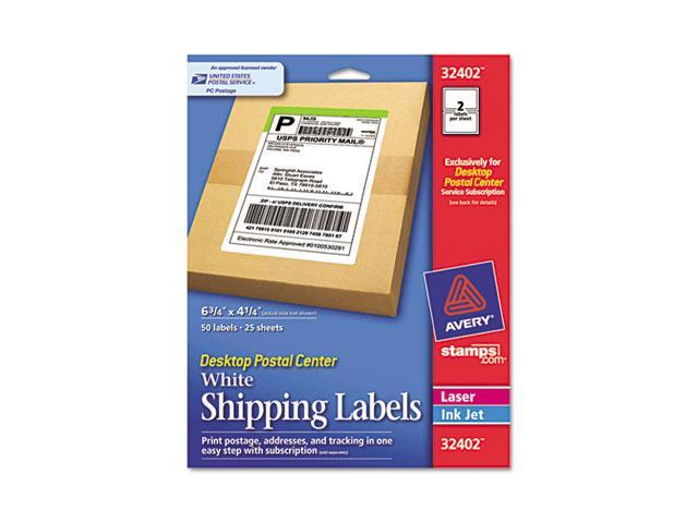 avery 32402 desktop postal center shipping labels 4 1 4 x 6 3 4