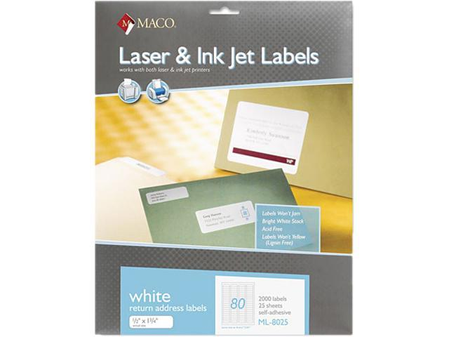 maco ml8025 white all purpose labels 1 2 x 1 3 4 2000 box newegg com