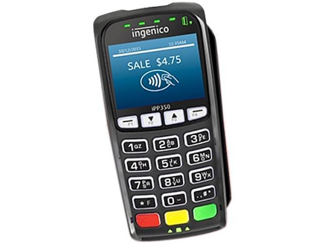 Ingenico iPP 350 15-key POS Payment Terminal, Telium 2 OS, Color LCD, USB,  RS232, Ethernet - IPP350-USBLU16A (No Software or Keys Included) -