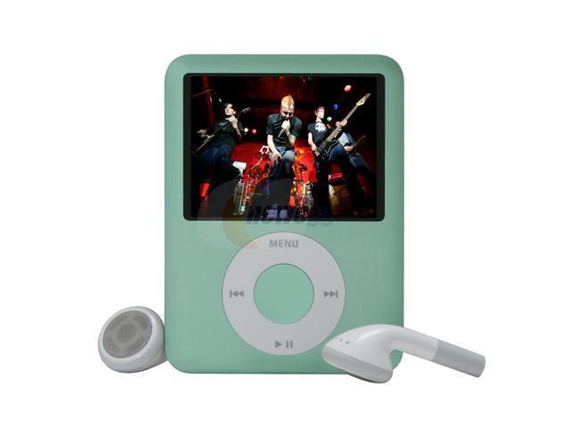 Apple 8gb Ipod Nano 3rd Gen Green Mb253lla Neweggcom