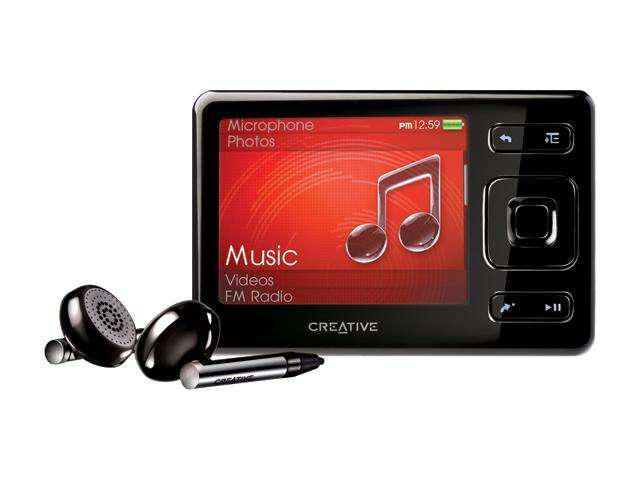creative zen 2 5 black 8gb mp3 mp4 player. Black Bedroom Furniture Sets. Home Design Ideas