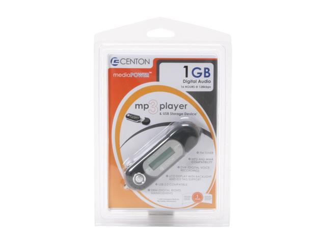 CENTON moVex Black 1GB MP3 Player - Newegg com