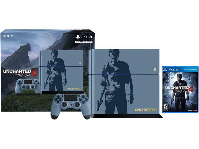 PlayStation 4 Console - Uncharted 4 Limited Edition 500GB Bundle ...