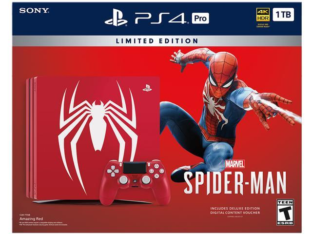 ccd98f203be PlayStation 4 Pro 1TB Limited Edition - Marvel's Spider-Man Bundle ...