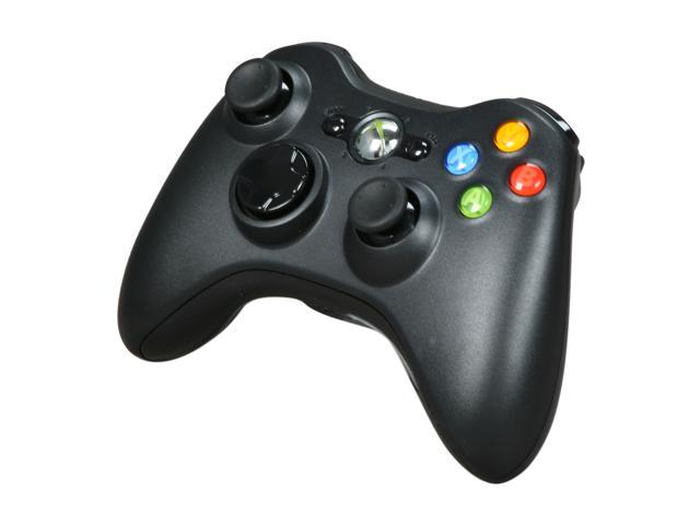Microsoft Xbox 360 Wireless Controller Black/Glossy Black - Newegg com