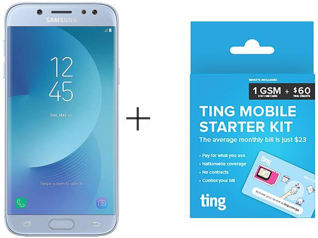 Samsung Galaxy J5 Pro J530G Blue Cell Phone + TING $60 SIM - Newegg com
