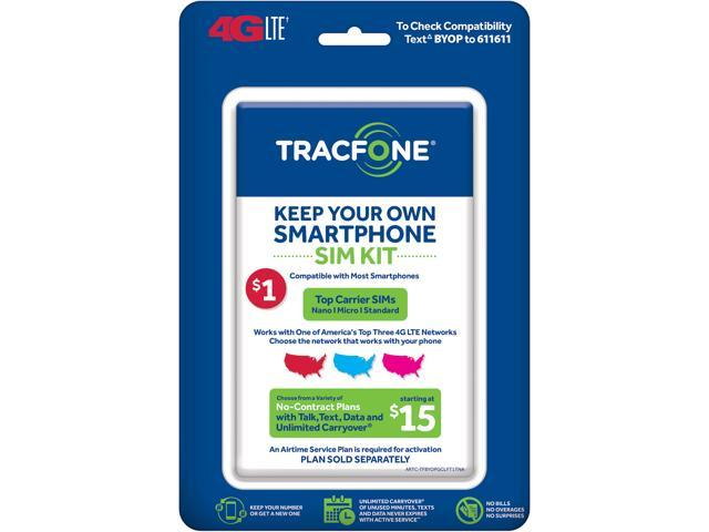 TracFone Bring Your Own Phone SIM Activation Kit (Triple Punch) - Newegg com