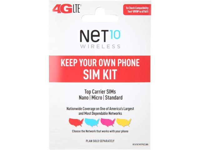 Net10 Activation Kit, Compatible with All Phones with a Micro, Nano or Standard SIM Card