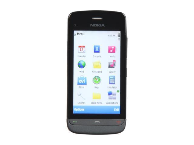 Nokia Graphite Black Unlocked GSM Smart Phone with Wi-Fi / 3 2