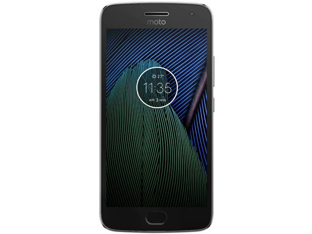 Moto G5 Plus (5th Gen), 5.2 Inches, FHD IPS, 4GB RAM, 64 GB Storage, Unlocked Cell Phone, US Warranty, Lunar Grey (01108NARTL)