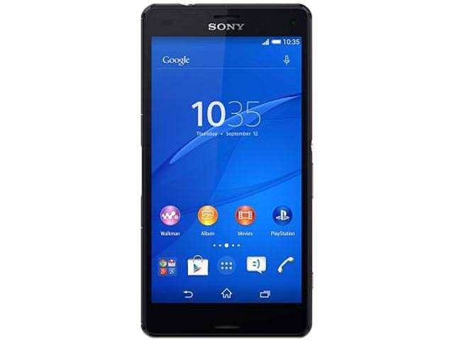 "Sony Z3 Compact LTE D5803 4G LTE Unlocked Cell Phone 4.6"" Black 16GB 2GB RAM"