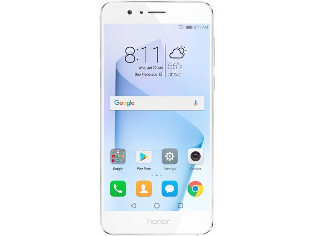 Open Box: Huawei - Honor 8 Dual Camera Unlocked Smartphone 32GB Pearl White  - US Warranty - Newegg com
