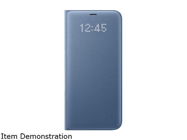 half off fb75d 4e763 SAMSUNG Blue LED Wallet Cover for Samsung Galaxy S8+ EF-NG955PLEGUS -  Newegg.com