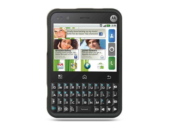 Motorola Charm MB502 Black Crystal Rubberized Case