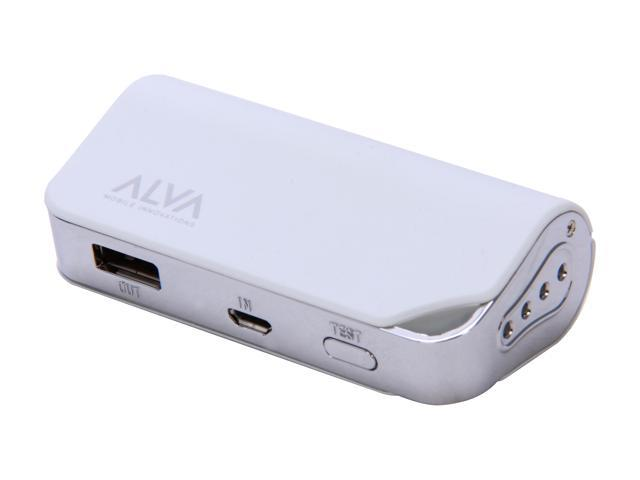Alva MJ-2200 Portable Battery Pack Power Bank for USB Mobile Devices (White) ee17ac0e4