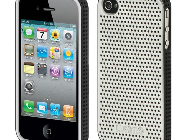 Luxmo Platinum Collection   Fusion Series Silver Black Border with Silver  Back Case & Covers Apple iPhone 4S/iPhone 4 - Newegg com