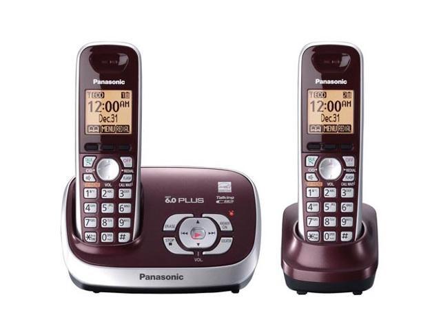 panasonic kx tg6572r 1 9 ghz digital 2x handsets cordless phones rh newegg com GE 6 0 Cordless Phone Battery General Electric DECT 6 0 Manual