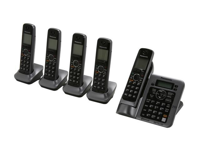 panasonic kx tg7645m link to cell cordless phones newegg com rh newegg com