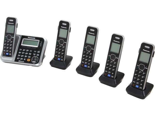 a493cad85 Link2Cell Bluetooth® Cordless Phone with Enhanced Noise Reduction- 5  Handsets