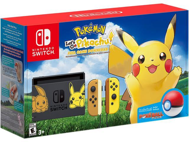 the best attitude 03d06 1d170 Nintendo Switch Pikachu   Eevee Edition with Pokemon Let s Go, Pikachu! +  Poke Ball