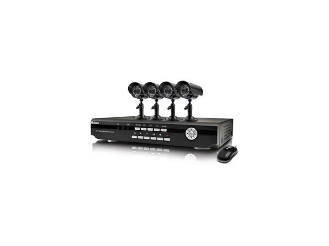 Swann SW343-2PC 4 Channel DVR4-2500 & 4 x PRO 555 Cameras - Security  Recorder Kit with Internet Viewing & 3G iPhone Connectivity - Newegg com
