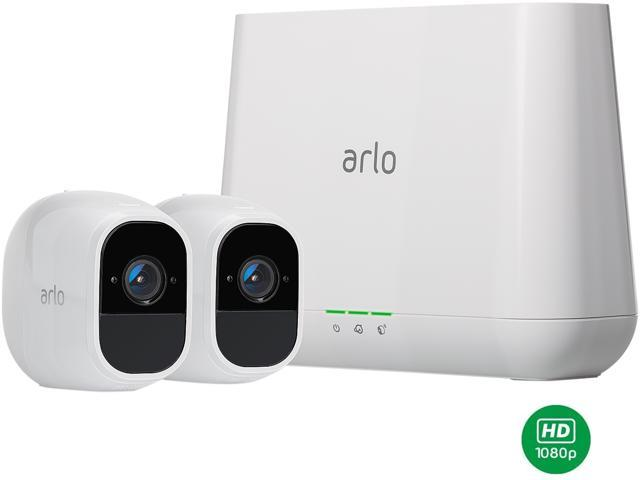 NETGEAR Arlo Pro 2 Security Camera System - 2 Rechargeable Battery Powered Wire-Free HD 1080p Night Vision Indoor / Outdoor Security Camera with Audio and Siren - VMS4230P