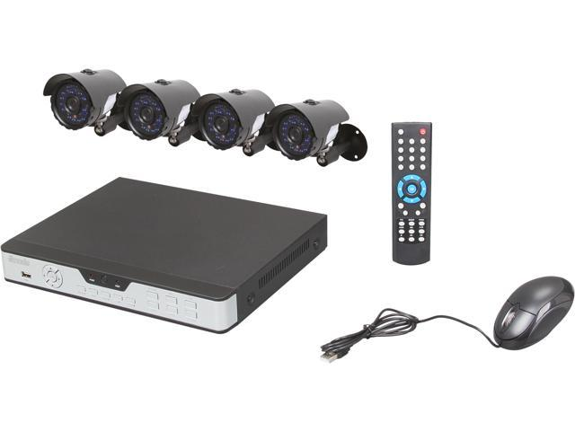 Zmodo KDA4-NARQZ4ZN-5G 4 Channel H 264 Level Surveillance DVR Kit -  Newegg com
