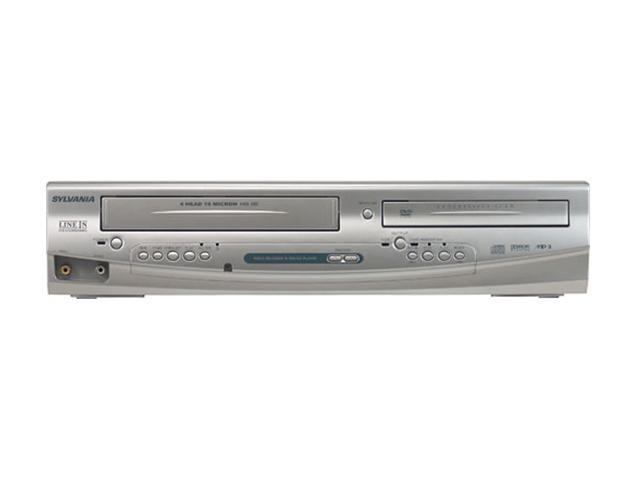 used very good sylvania dv220sl8 dual player dvd vcr line in rh newegg com Sylvania Electronics Sylvania Electronics