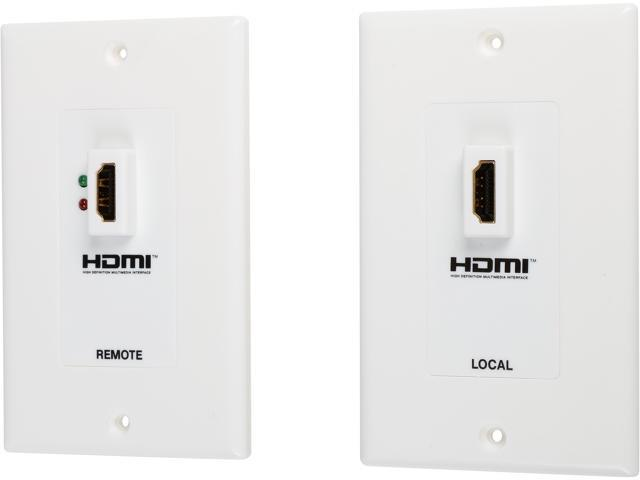 tripp lite hdmi over dual cat5 cat6 extender wall plate kit, transmitter \u0026 receiver, 1080p (p167 000) newegg com  10ft cl3 high speed hdmi cable with