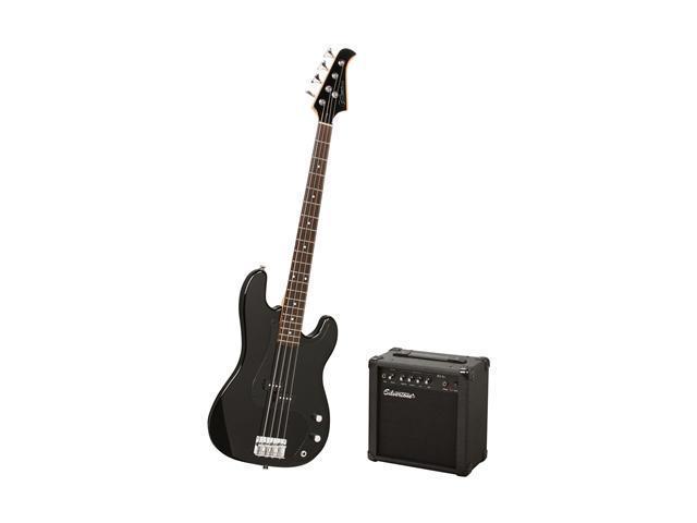 silvertone lb11 electric bass package liquid black. Black Bedroom Furniture Sets. Home Design Ideas