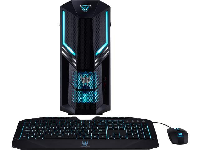 Acer Gaming Desktop Predator Orion 3000 PO3-600-UR1E Intel Core i7 9th Gen 9700 (3.00 GHz) 16 GB DDR4 512 GB SSD NVIDIA GeForce RTX 2060 SUPER Windows 10 Home 64-bit
