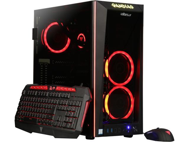 ABS Fort Gaming Desktop PC NVIDIA GeForce RTX 2070 8 GB Intel Core i7-9700K (3.60 GHz) 8-Core Liquid Cooling (120 mm) 16 GB DDR4 240 GB SSD 1 TB HDD Windows 10 Home 64-Bit ALI215