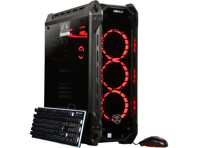 ABS Panzer-G Gaming Desktop with Intel Eight Core i7-9700K / 32GB / 2TB HDD & 240GB SSD / Win 10