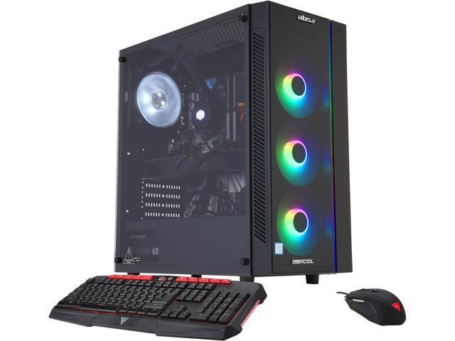 ABS Nite Gaming Desktop with Intel Hex Core i7-9700K / 16GB / 1TB HDD & 240GB SSD / Win 10 / 8GB Video + NVIDIA Gift + Intel Gaming Bundle