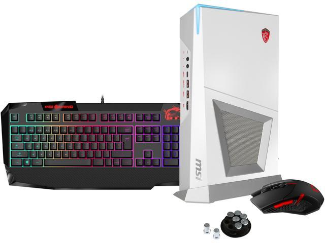 MSI Desktop PC Trident 3 Trident 3 Arctic VR7RD-048US Intel Core i7 7th Gen 7700 (3.60 GHz) 16 GB DDR4 1 TB HDD 256 GB SSD NVIDIA GeForce GTX 1070 Windows 10 Home 64-Bit