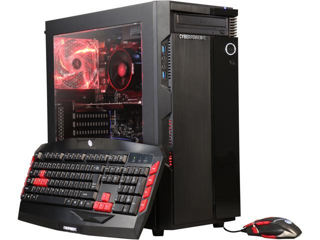 CyberpowerPC Desktop Computer Gamer Master 2019 Ryzen 3 1200 (3.10 GHz) 8 GB DDR4 1 TB HDD NVIDIA GeForce GT 1030 Windows 10 Home 64-Bit