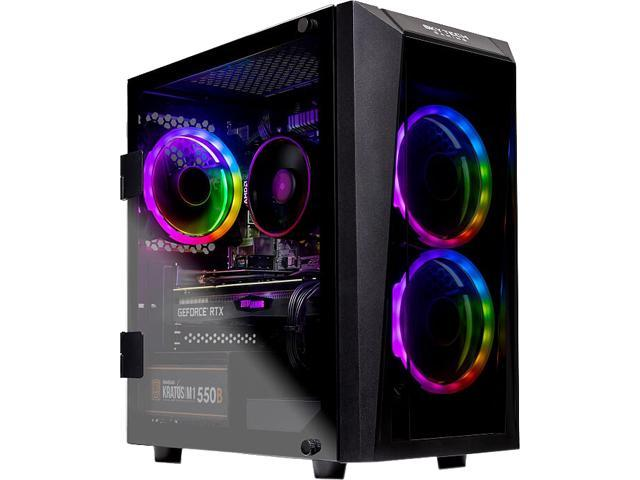 SkyTech - Gaming Desktop PC - AMD Ryzen 5 3600 (6-Core 3.6 GHz), NVIDIA GeForce RTX 2070 SUPER (8 GB), 16 GB DDR4, 500 GB ...