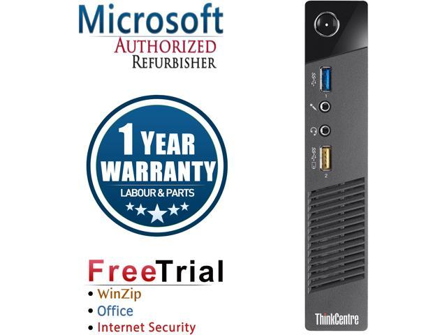 Refurbished: Refurbished Lenovo M73 Tiny Intel Core i3 4130T 2 9G / 4G DDR3  / 250G / Windows 7 Professional 64 Bit / 1 Year Warranty - Newegg ca