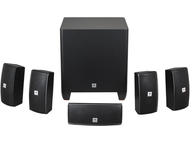 Jbl Home Speakers >> Jbl Cinema 610 5 1 Ch Home Theater Speakers System With Powered Subwoofer And Dedicated Center Speaker Newegg Com