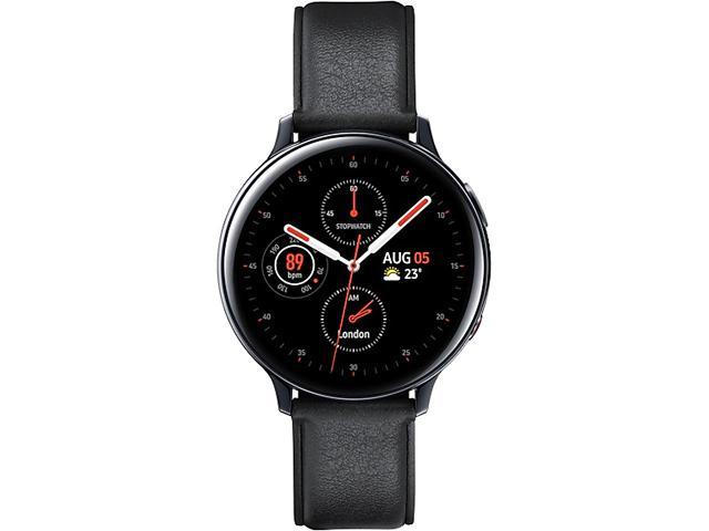 Samsung SM-R825FSKAXAC Galaxy Watch Active2 (44mm, LTE) - Black Stainless Steel