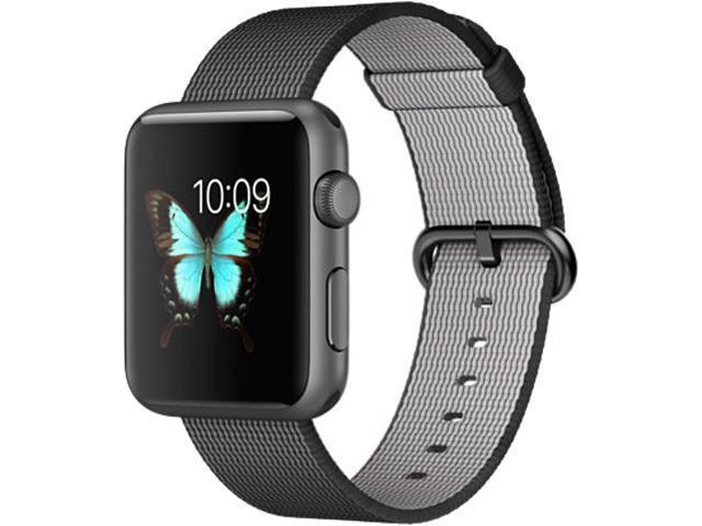 quality design 1ebb2 831e3 Apple Watch Sport 42mm Smartwatch (Space Gray Aluminum Case, Black Woven  Nylon) - Newegg.com