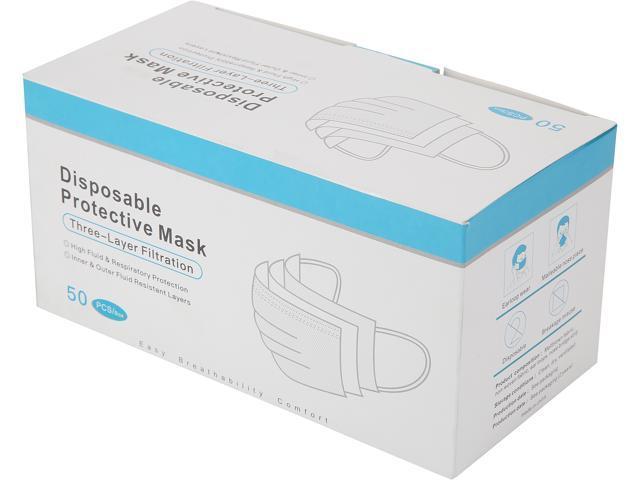 Disposable Protective Mask, 3 Layer - 50 pcs / Box