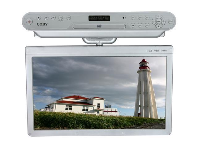 Coby Ktfdvd1560 15 Quot Silver Under The Cabinet Lcd Tv With