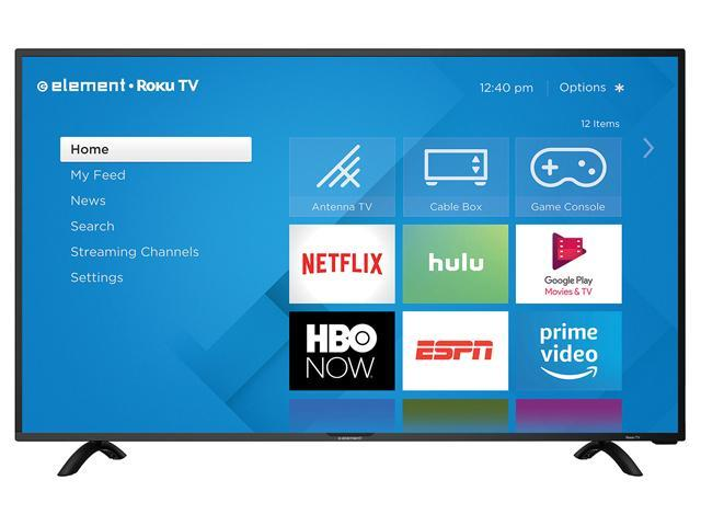 "ELEMENT 40"" 4K Effective Refresh Rate 120Hz 4K (2160P) UHD ROKU Smart LED TV E4SC4018RKU"
